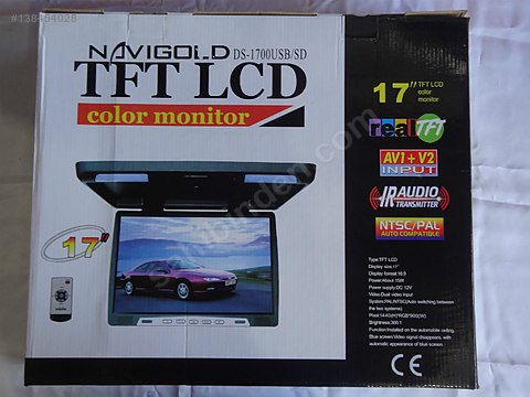 NAVİGOLD D 1700 SD USB TV TAVAN MONİTÖRÜ